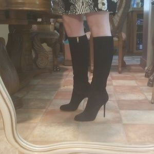 Black knee high boots Sergio rossi